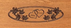 D9 Personalized wHearts & Roses